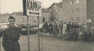 KappAhls första butik 1953, i en källare på Omvägen i Kallebäck, Göteborg