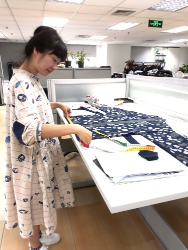 The kimono is thoroughly checked at the production office.